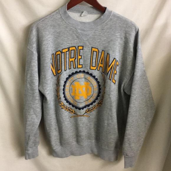 Champion Shirts Vintage Notre Dame Fleece Sweatshirt Lxl Poshmark